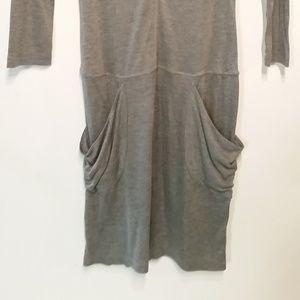 BCBGMaxAzria Dresses - BCBG MAXAZRIA Gray Jersey Dress Pockets XXS NWOT